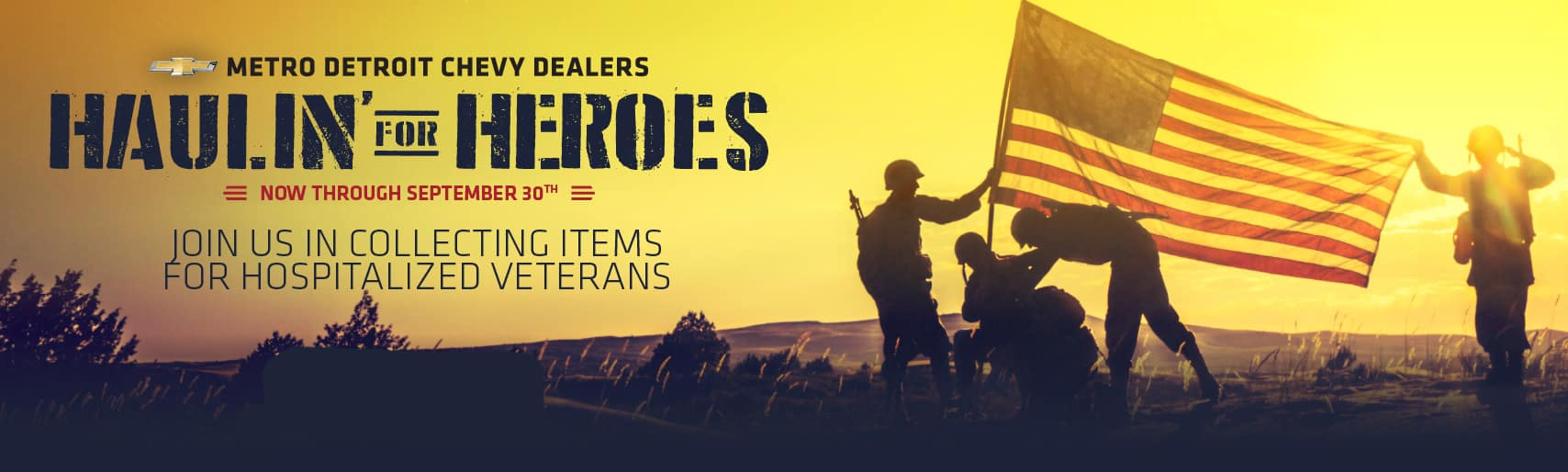 Haulin' for Heroes Michigan Chevy Dealers