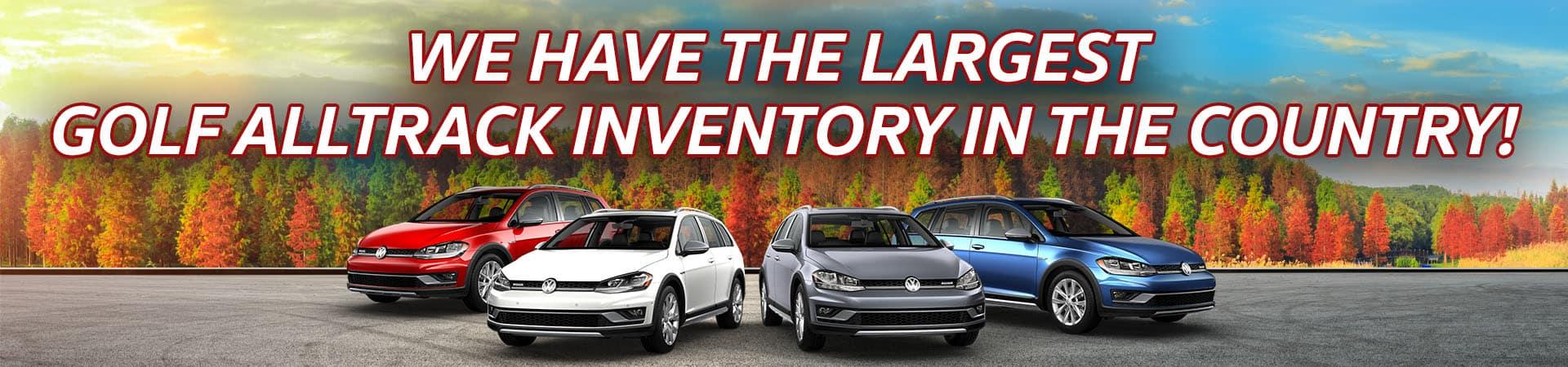 October Golf Alltrack Inventory Slide