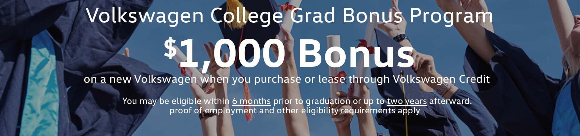 College Grad Bonus Slide