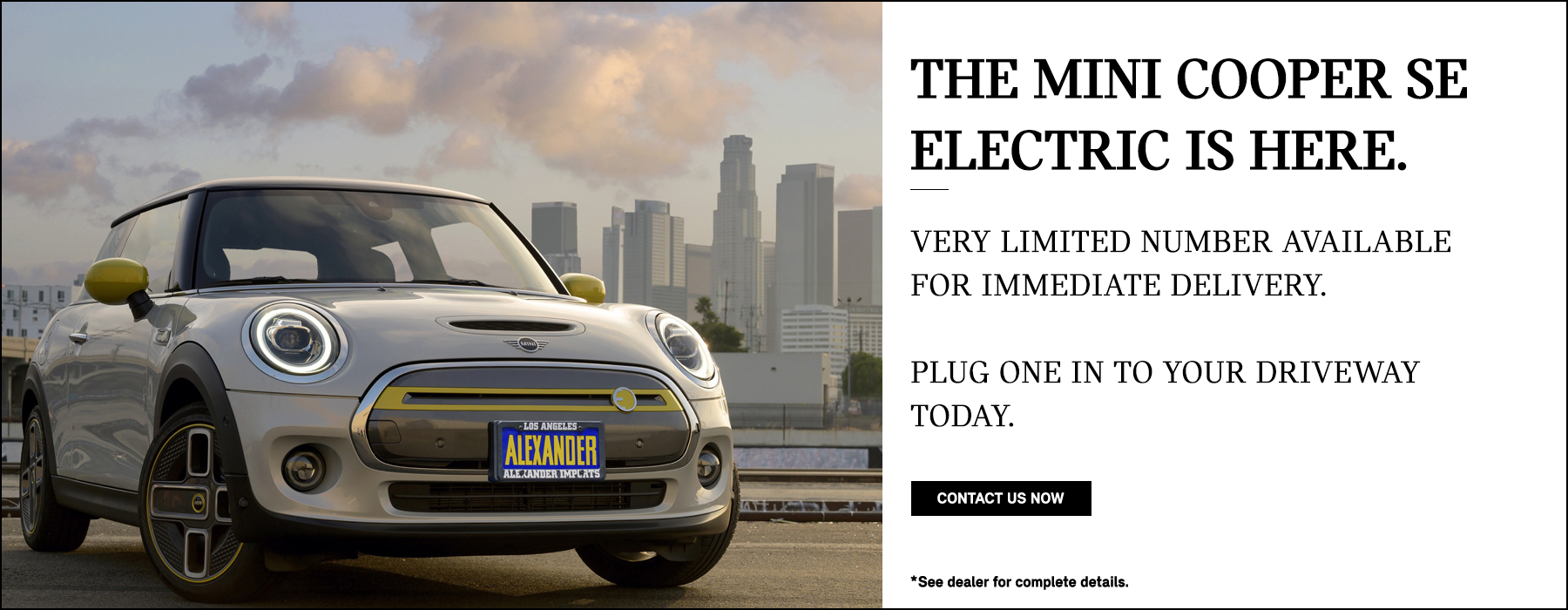 MINI Electric in stock now at Nick Alexander MINI