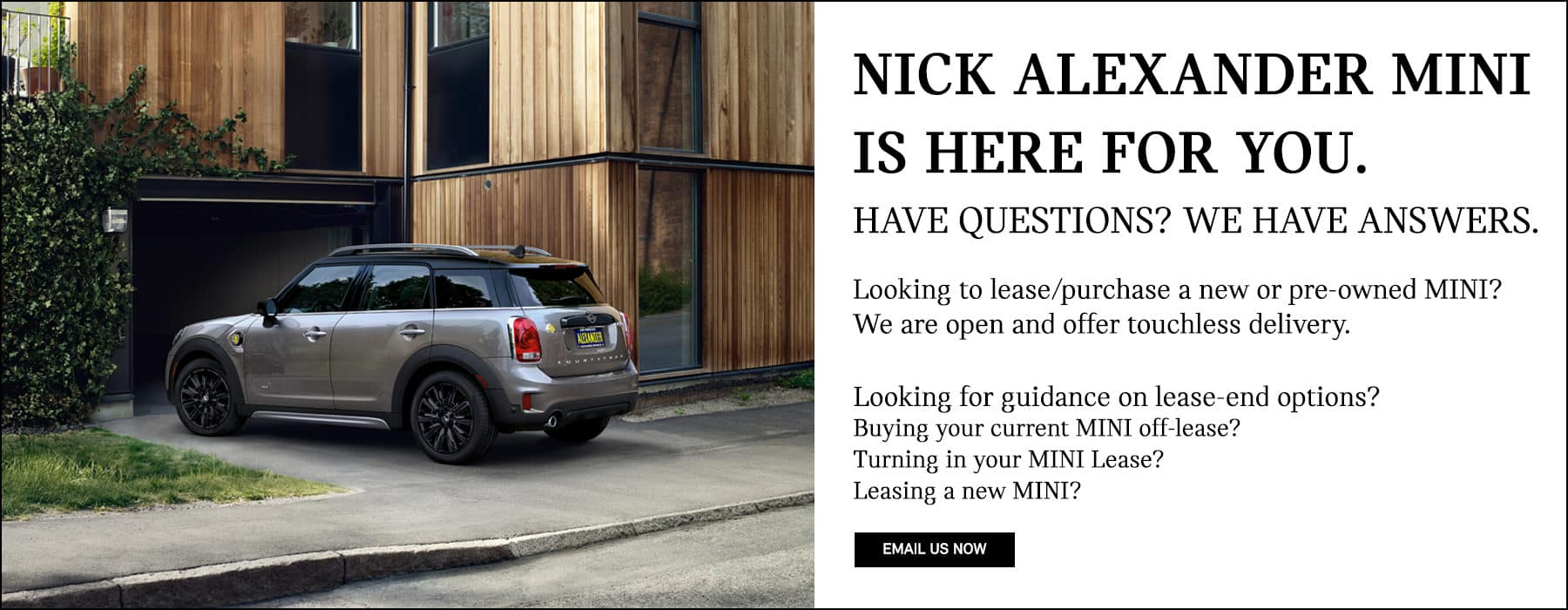 Nick Alexander MINI Cooper Offsite Off-site Delivery Available Home touchless touch-less