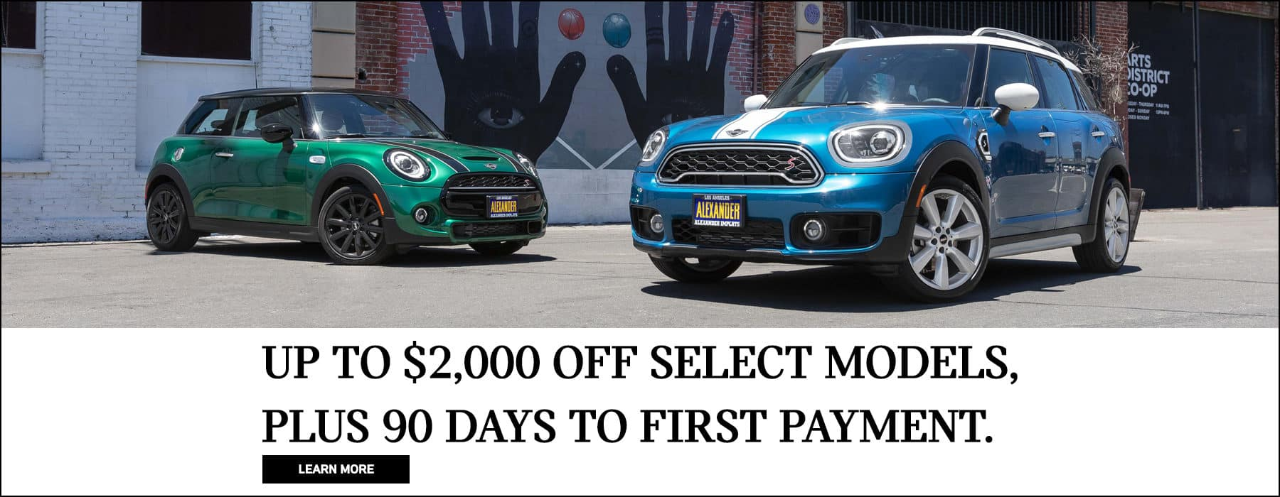 up to $2,000 off select models. plus 90 days to first payment.