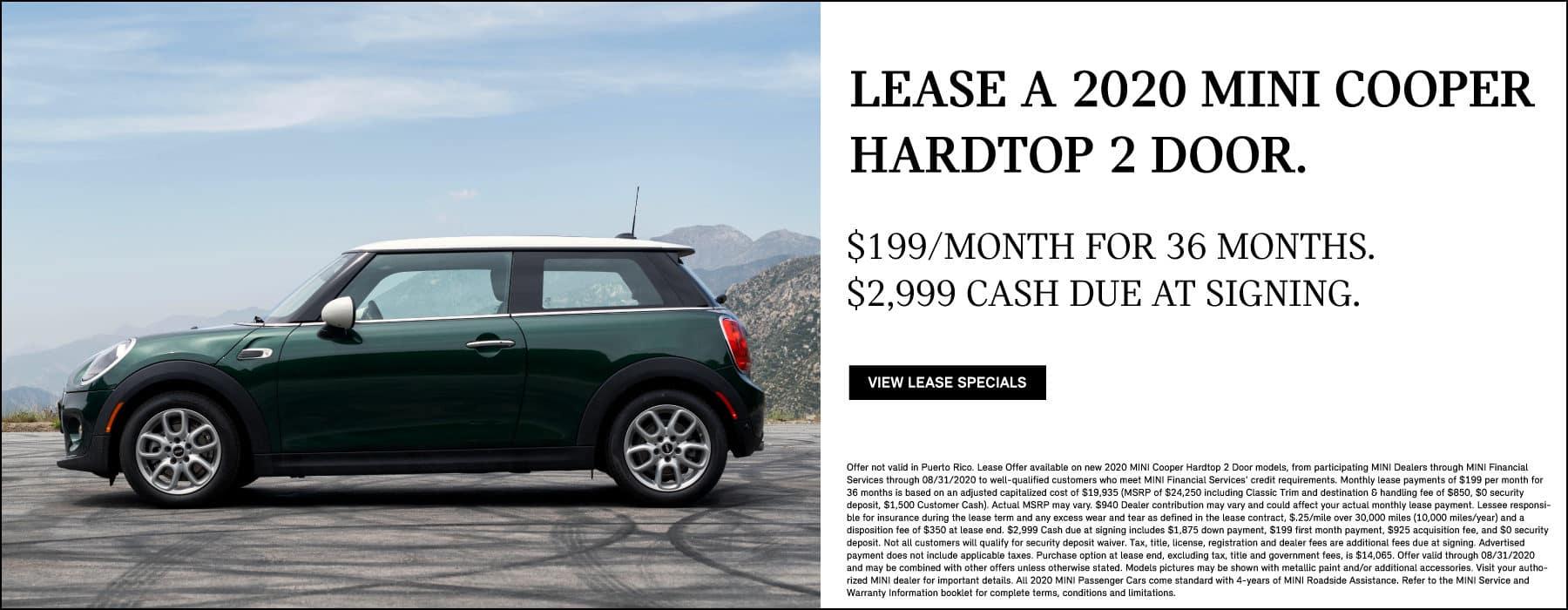 Lease a 2020 MINI Cooper Hardtop 2 Door for $199/mo