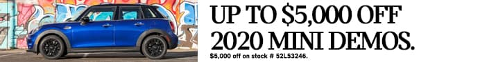Up to $5,000 off 2020 MINI demos. Discount on stock #52L53246.