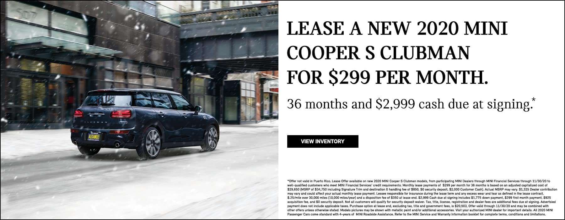 MINI Cooper S Clubman $299 lease offer low payment Nick Alexander Number 1 # dealer dealership center in Los Angeles SoCal California West Coast
