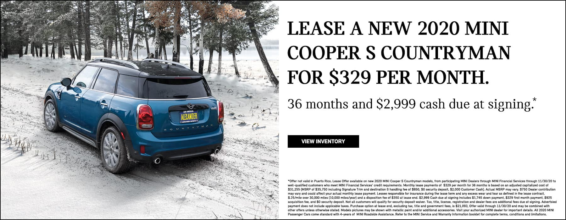 MINI Cooper S Countryman lowest lease offer payment best price black friday