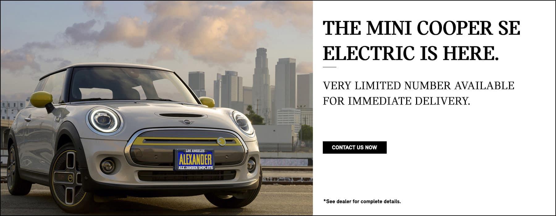 MINI Electric in stock now at Nick Alexander MINI