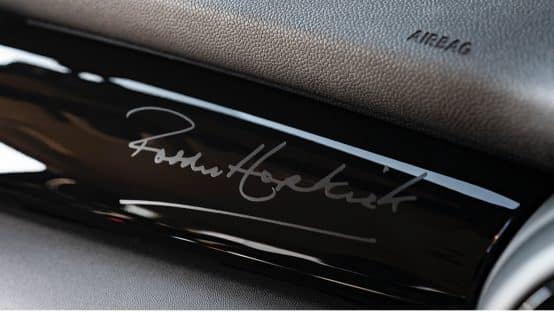 Paddy Hopkirk Edition Signature on Interior Dash Trim
