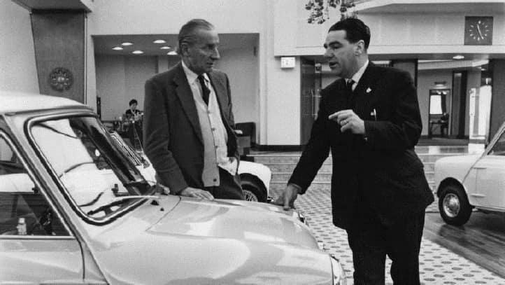 Alec Issigonis and John Cooper discuss the Mini.