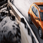 2020 Nissan Rogue on highway road