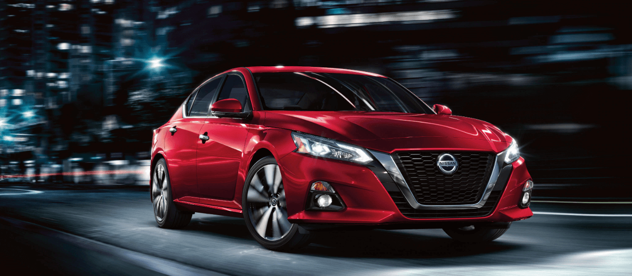 2020 Nissan Altima S model in red