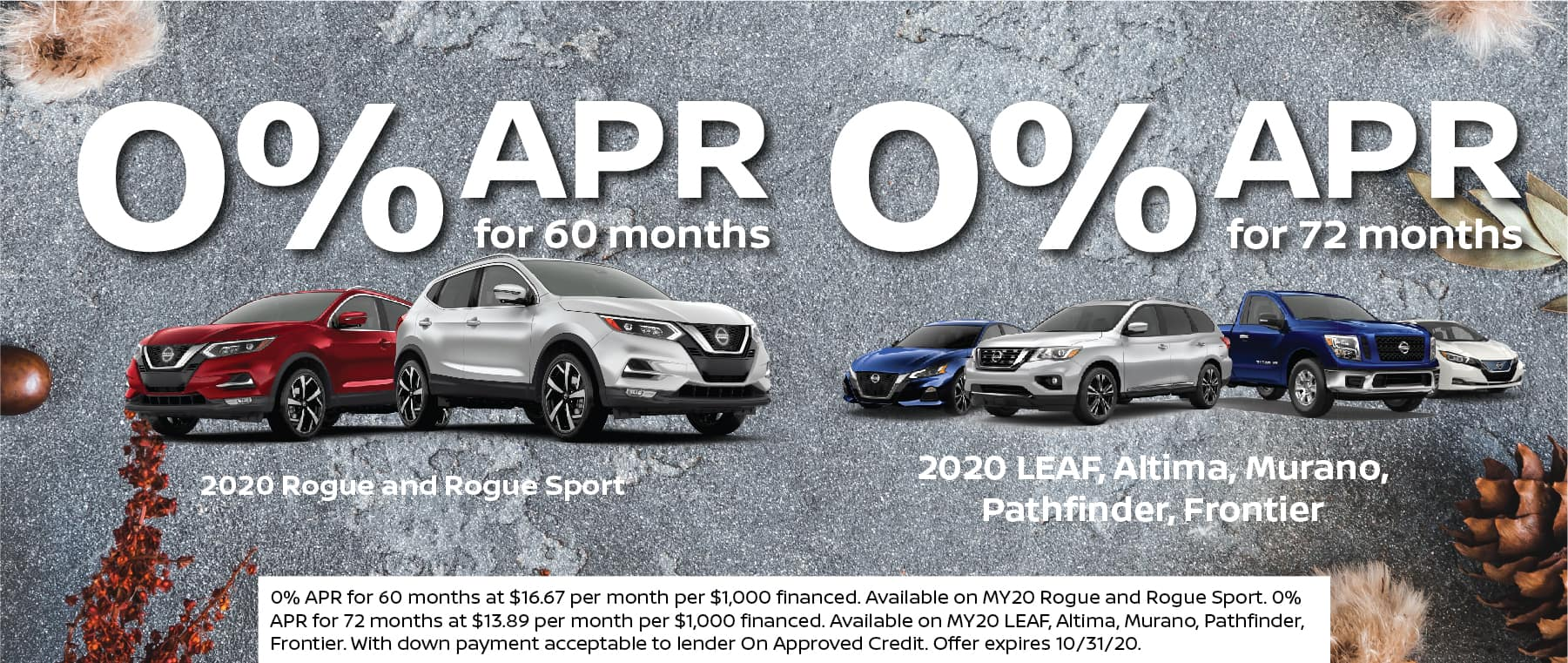 0% APR for 60 or 72 Months