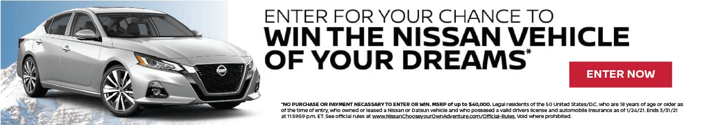 Win the Nissan of your dreams