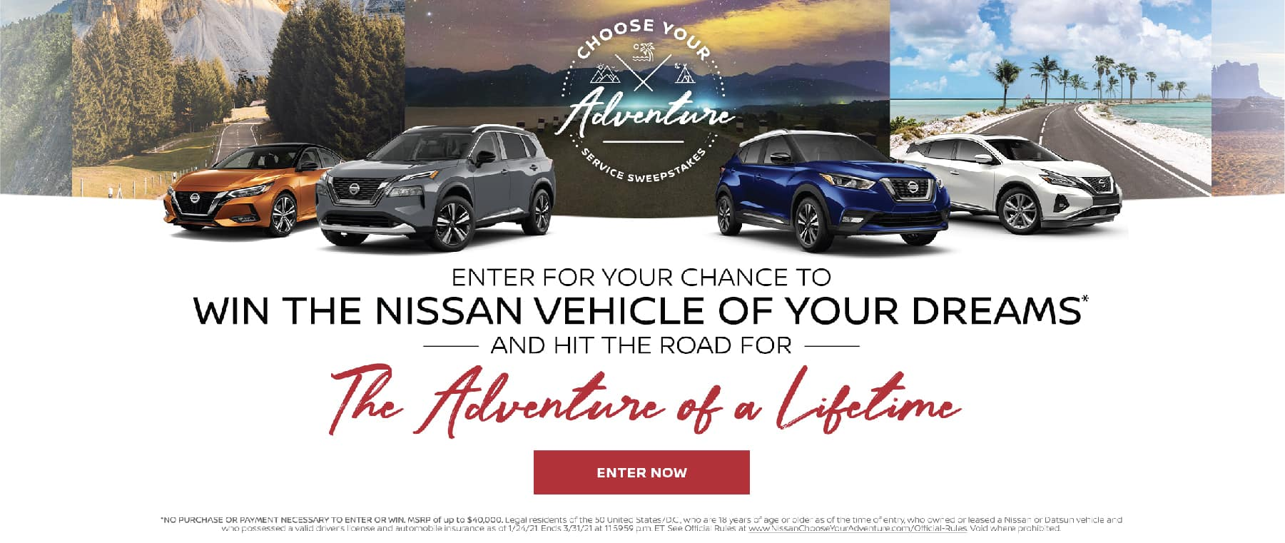 Win the Nissan Vehicle of your Dreams