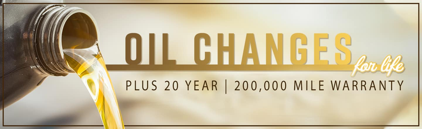 Oil Changes for life plus 20 year. 200,000 mile warranty