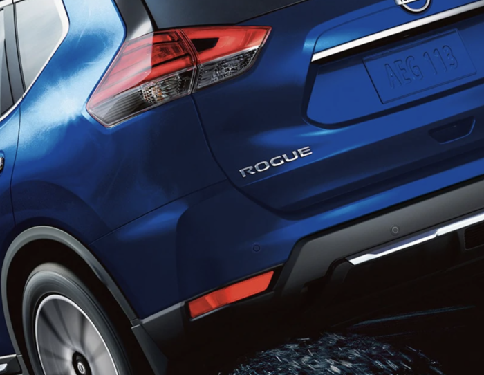 2020 Nissan Rogue Blue Taillight