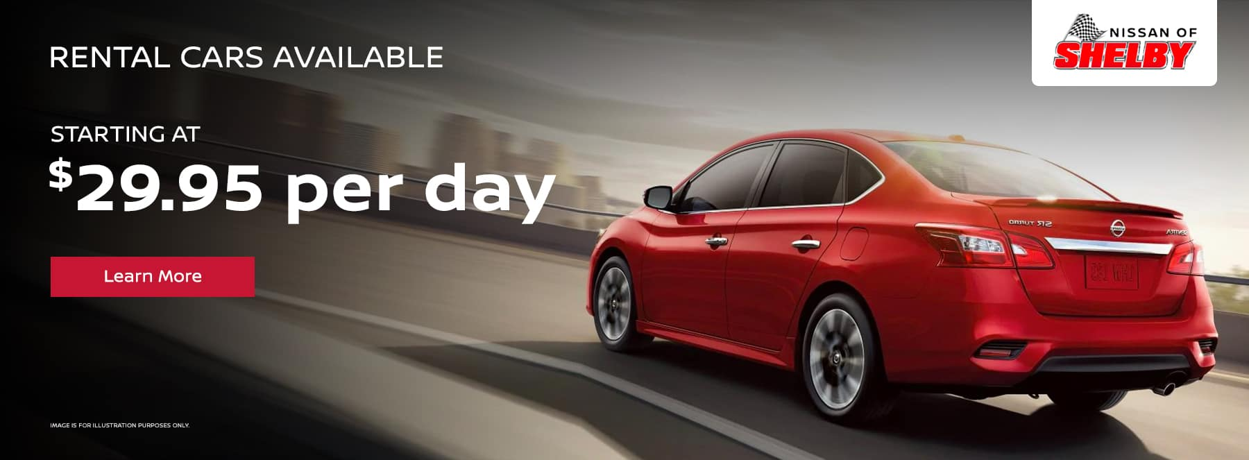 Rental Cars Available, starting at $29.95 per day