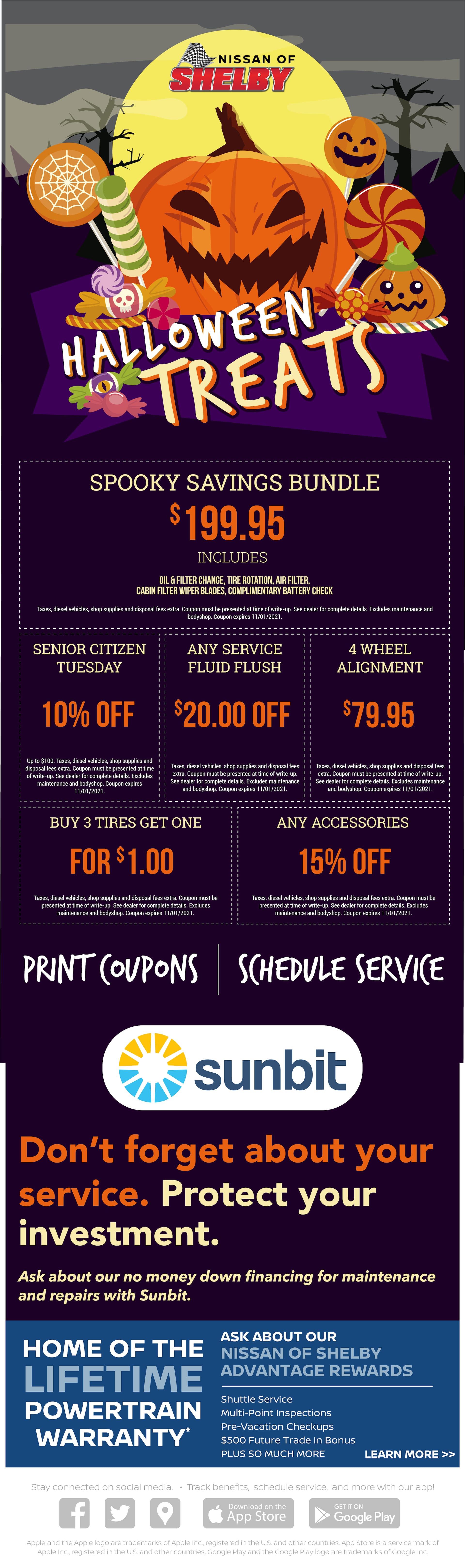 Halloween Savings