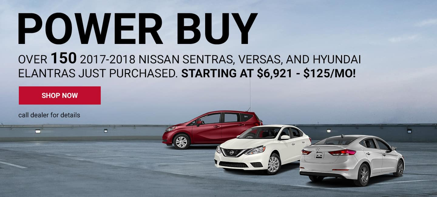 Over 150 2017-2018 Nissan Sentras, Versas, and Hyundai Elantras just purchased.