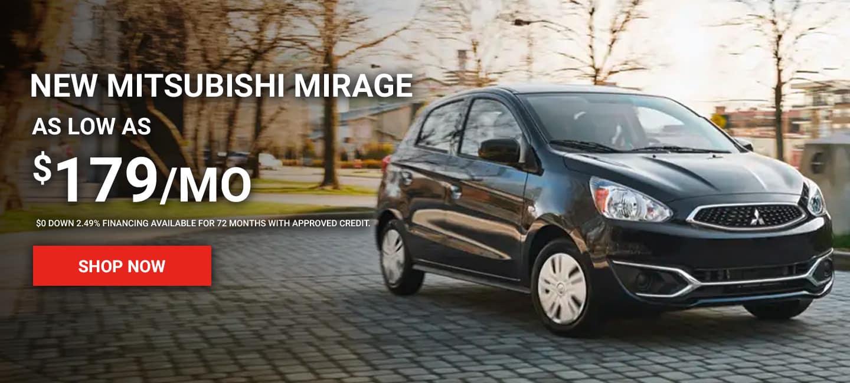 New Mitsubishi Mirage As Low at $179/mo