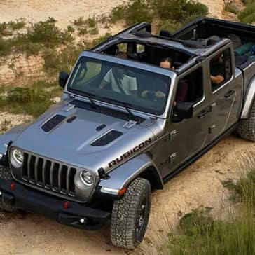 2020 Jeep Gladiator With Top Off