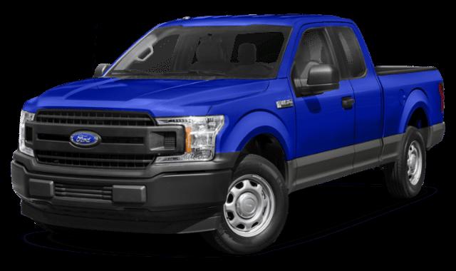 blue 2020 Ford F-150