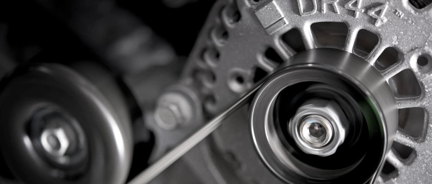 car alternator photo up close