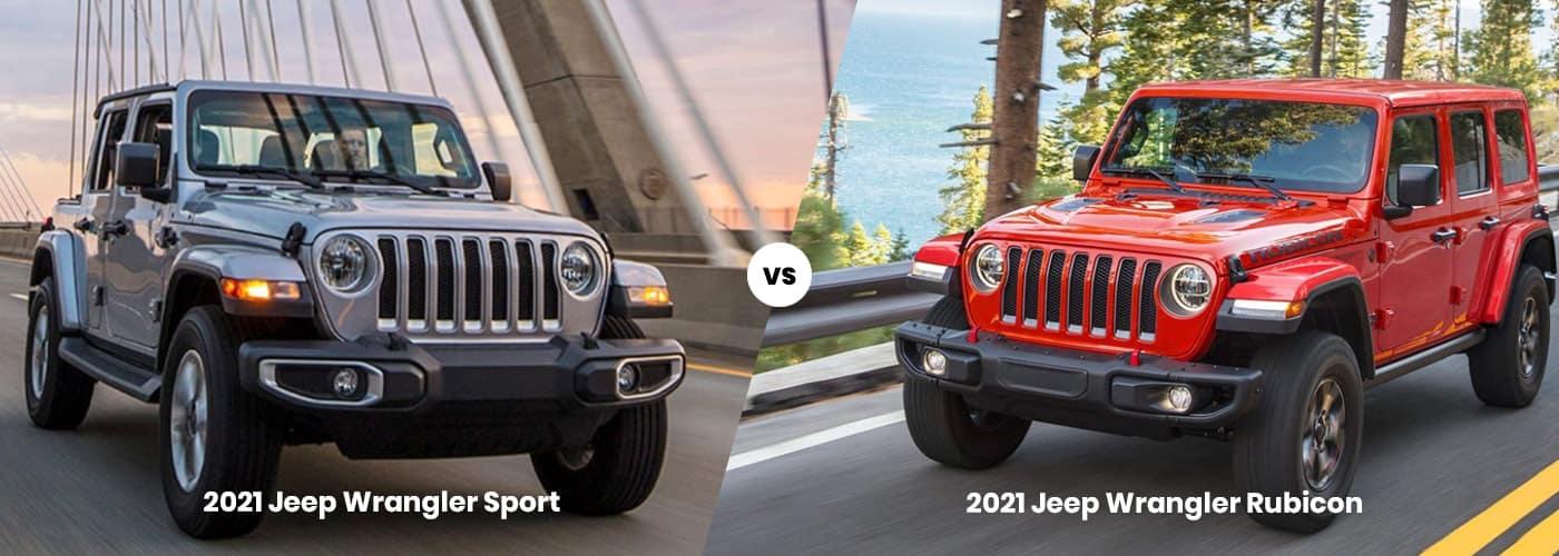 2021 Jeep Wrangler Sport vs. Rubicon