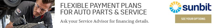 Flexible Payment Plans for Auto Parts & Service. Powered by Sunbit. See your options today.