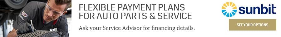 Flexible Payment Plans for Auto Parts & Service. Powered by Sunbit.