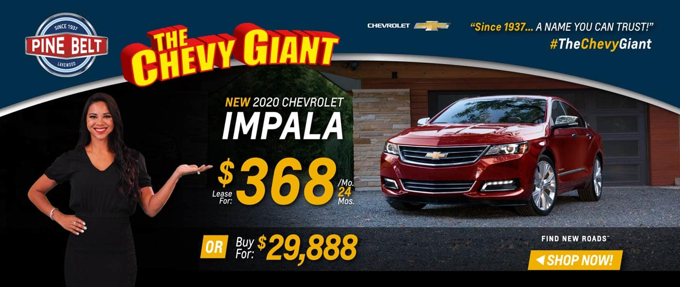 2020 Chevy Impala Lease, Purchase or Finance Deals