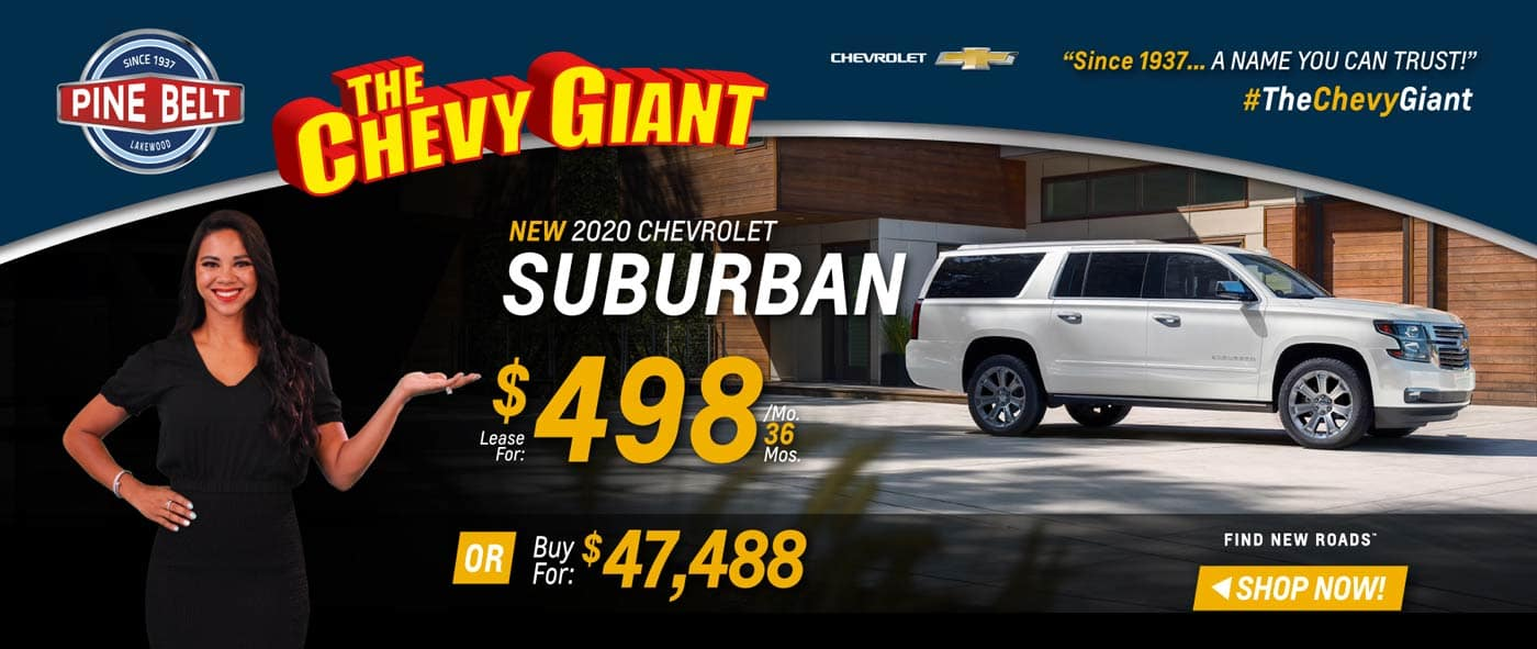 2020 Chevy Suburban Lease, Purchase or Finance Deals