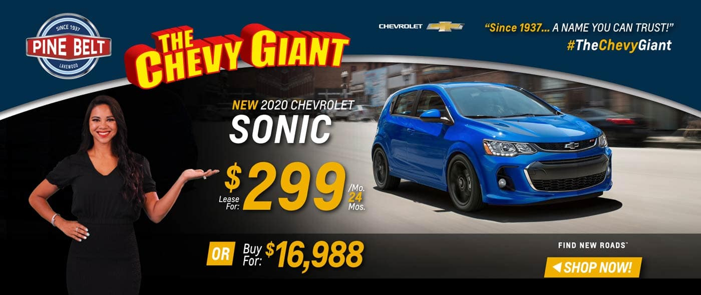 2020 Chevy Sonic Lease, Purchase or Finance Deals