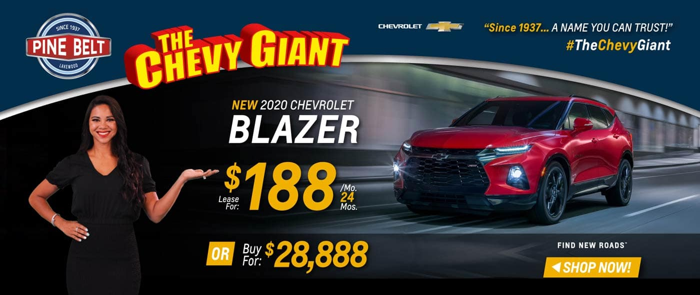2020 Chevy Blazer Lease, Purchase or Finance Deals