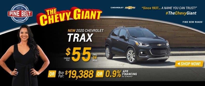 2020 Chevy Trax Lease, Purchase or Finance Deals