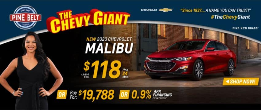 2020 Chevy Malibu Lease, Purchase or Finance Deals