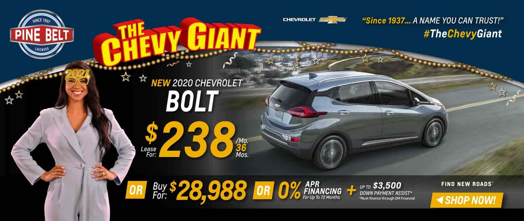 2020 Chevy Bolt Lease, Purchase or Finance Deals