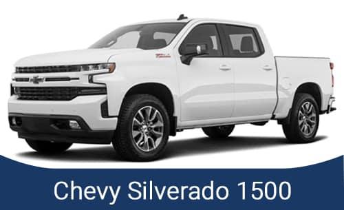 White Chevy Silverado 2021