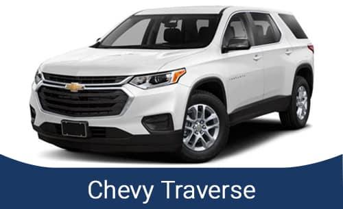 2021 White Chevy Traverse