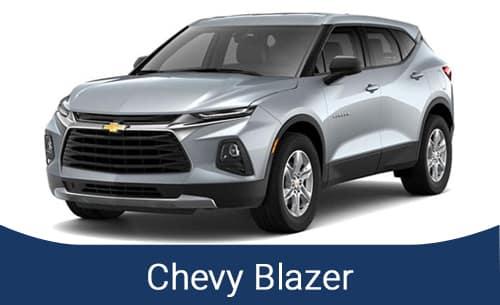 Silver Chevy Blazer SUV