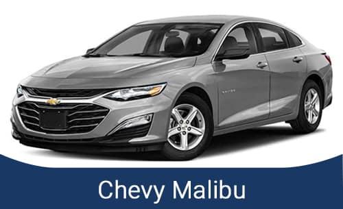 Silver Chevy Malibu 2021