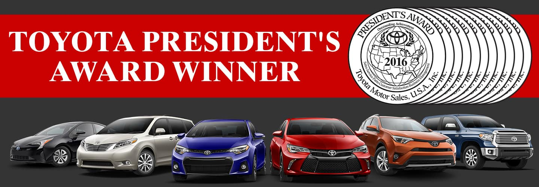 Toyota President's Award Winner banner