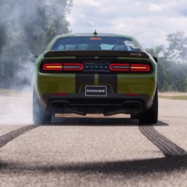 rear Dodge Challenger