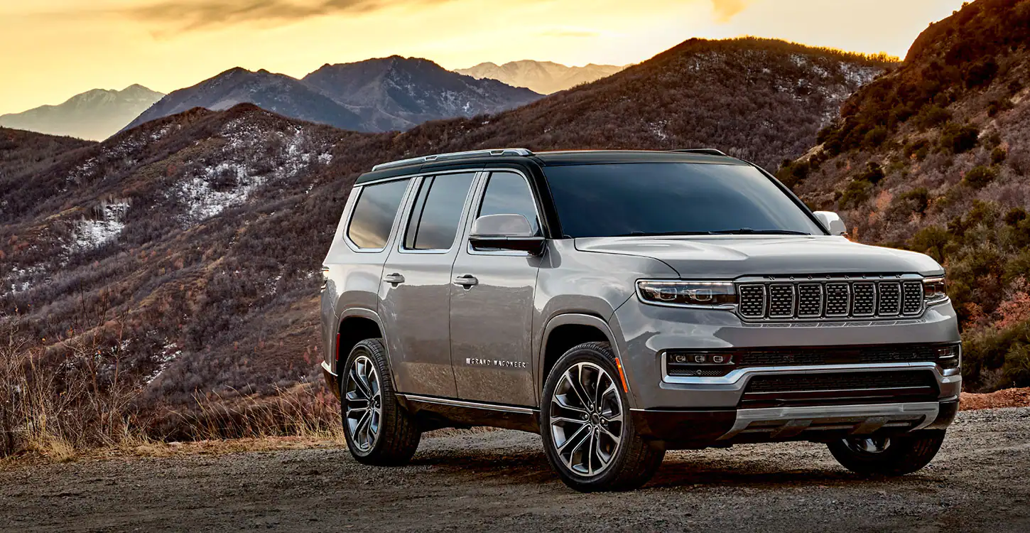 2022 Jeep Wagoner in mountains at dusk