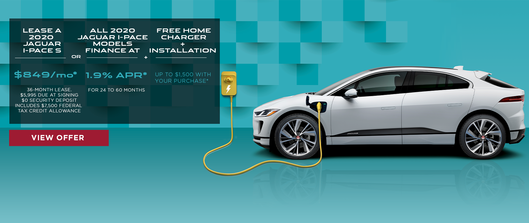 2020 Jaguar I-Pace all electric vehicle special offer click to view