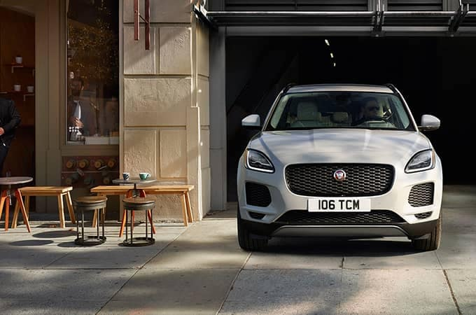2020 Jaguar E-Pace Leaving Garage