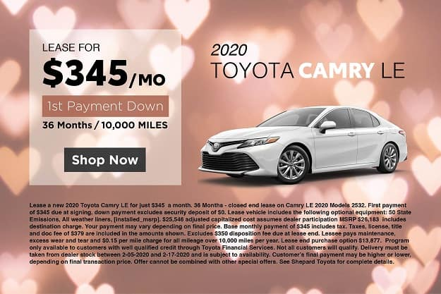 2020 TOYOTA CAMRY LE LEASE