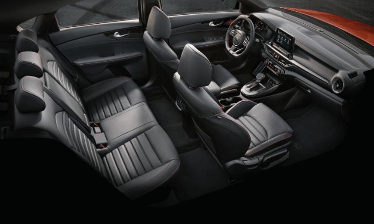 2020 Kia Forte interior seats in black