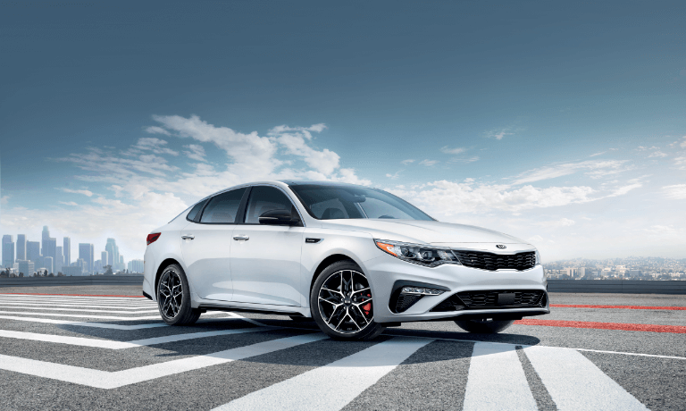 2020 Kia Optima in while parked in empty parkinglot