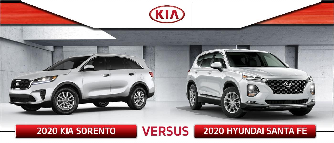 2020 Kia Sorento vs. 2020 Hyundai Santa Fe
